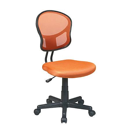 OSP Designs Screen Back Task Chair, Orange