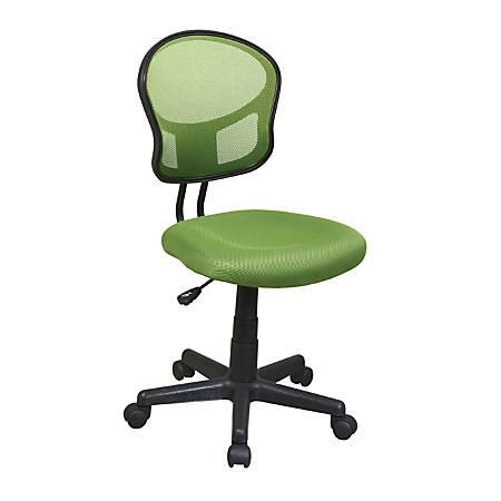 OSP Designs Screen-Back Task Chair, Green