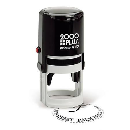 "2000 PLUS® R40 Self-Inking Round Stamp, 1 9/16"" Diameter Impression"