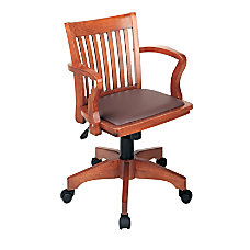 OSP Designs Deluxe Bankers Chair BrownFruitwood