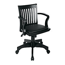 OSP Designs Deluxe Bankers Chair Black