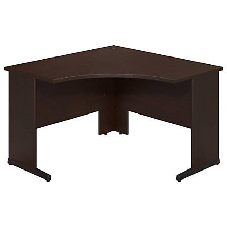 "Bush Business Furniture Components Elite C Leg Corner Desk, 48""W x 48""D, Mocha Cherry, Premium Installation"