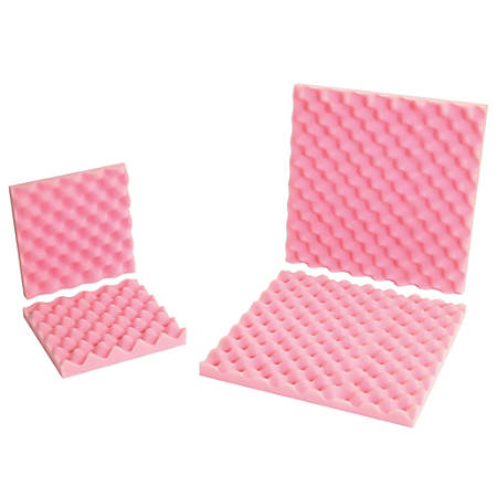 """Office Depot® Brand Antistatic Convoluted Foam Sets, 2""""H x 24""""W x 24""""D, Pink, Case Of 6"""