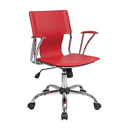 Ave Six Dorado Office Chair, Red/Chrome