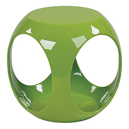 Ave Six Slick Table, Accent, Round, High-Gloss Green