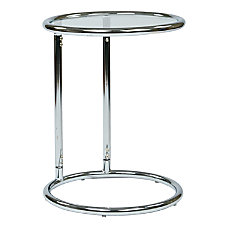 Ave Six Yield Glass Table Round