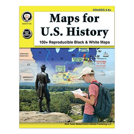 Mark Twain Media Maps For U.S. History, Grades 5-8