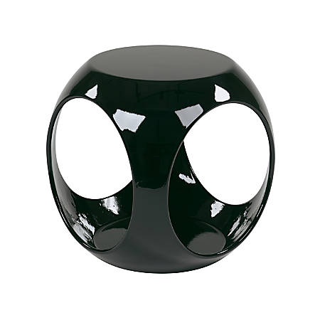 Ave Six Slick Table, Accent, Round, High-Gloss Black