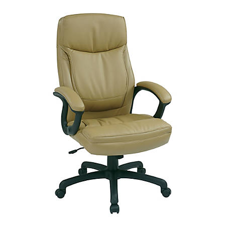 Office Star™ Work Smart Eco Leather High-Back Chair, Tan