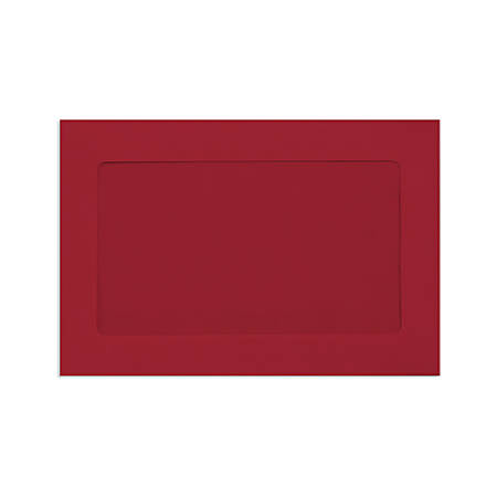 """LUX Full-Face Window Envelopes With Peel & Press Closure, #6 1/2, 6"""" x 9"""", Ruby Red, Pack Of 500"""