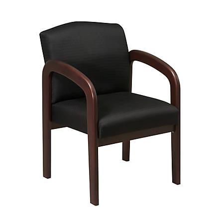 Office Star™ Work Smart Guest Chair, Black/Espresso
