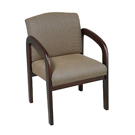 Office Star™ Work Smart Guest Chair, Tan/Espresso