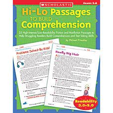 Scholastic Hi Lo Passages To Build