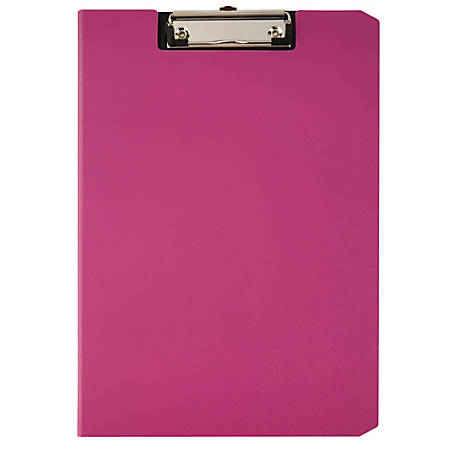 "Office Depot® Brand Privacy Clipboard, 9 1/2"" x 13 1/2"" x 1/2"", Magenta"