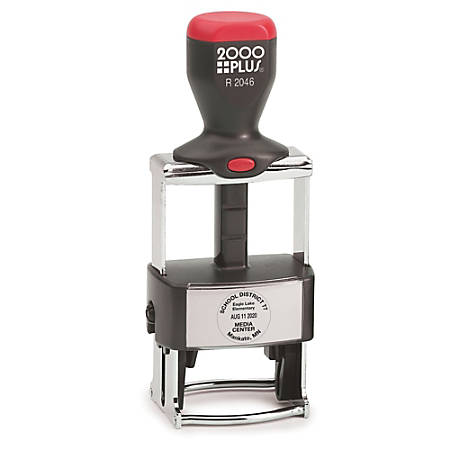 "2000 PLUS® R2046 Self-Inking Round Dater Stamp, 1 5/8"" Diameter Impression"