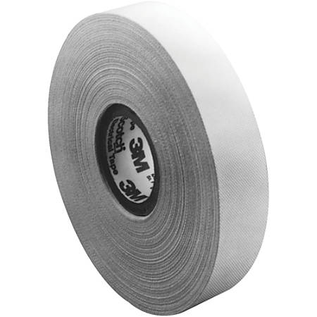 "3M™ 27 Glass Cloth Electrical Tape, 3"" Core, 1"" x 180', White, Case Of 3"