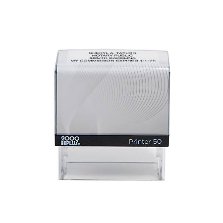 """2000 PLUS® Self-Inking Notary Stamp, P50, 1 1/16"""" x 2 5/8"""" Impression"""
