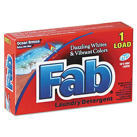 Fab® Dispenser-Design HE Laundry Detergent Powder, Ocean Breeze, 1 Oz