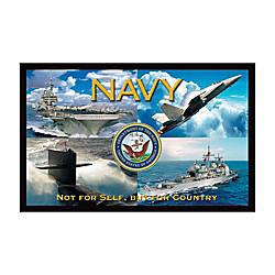 California Color Products Navy Door Mat