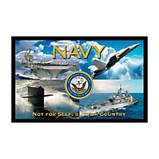 California Color Products Navy Door Mat