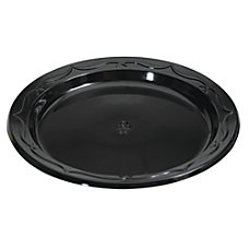 Genpak Silhouette Plastic Plates 6 Black