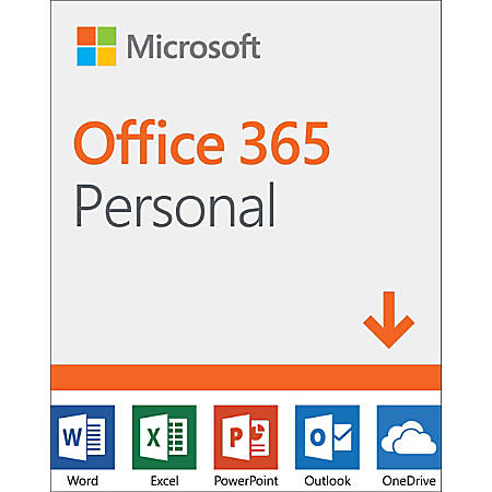Microsoft® Office 365 Personal, For 1 PC Or Mac User, 1-Year Subscription, Download Version