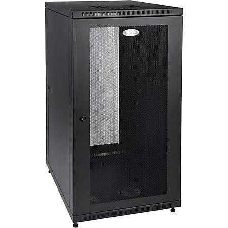 "Tripp Lite 24U Rack Enclosure Server Cabinet 33"" Deep w/ Doors & Sides - For Server - 24U Rack Height32.50"" Rack Depth - Floor Standing - Black - 1000 lb Dynamic/Rolling Weight Capacity - 1000 lb Static/Stationary Weight Capacity"