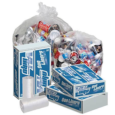 Pitt Plastics Vu-Thru 1.3-mil Can Liners, 56 Gallons, Clear, Pack Of 100