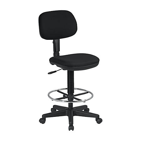 Office Star™ DC517-231 Work Smart Fabric Drafting Chair, Black