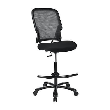 Office Star™ Space Series 15 Air Grid/Mesh Drafting Chair, Black