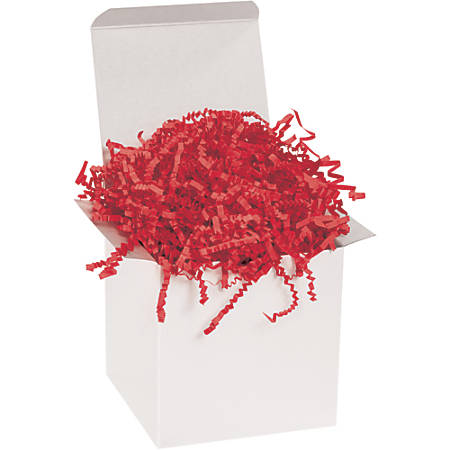 Office Depot® Brand Crinkle Paper, Red, 40-Lb Case