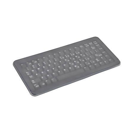 Cherry EZClean® 4100 Ultra-Slim Compact Covered Keyboard, Black, EZN4100LCMUS2IG