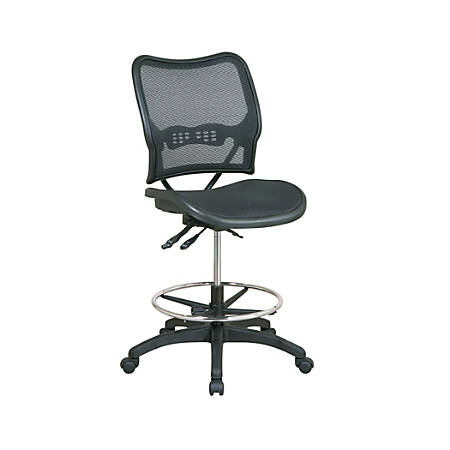 Office Star™ SPACE Deluxe Ergonomic Air Grid Drafting Chair, Black