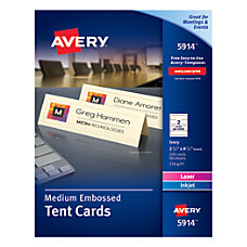 Avery Embossed Tent Cards 2 12