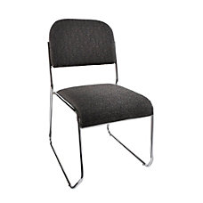 Realspace Sled Base Stacking Chair BlackChrome