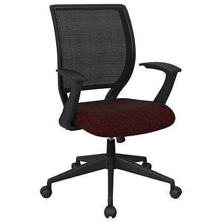 Office Star™ Work Smart Mesh Task Chair, Merlot/Black