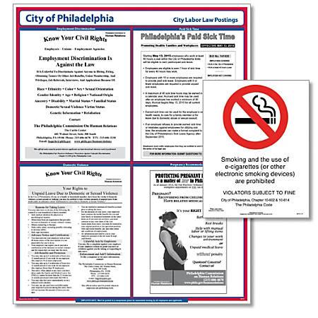 ComplyRight City Poster Bundle, English, Philadelphia, Pennsylvania