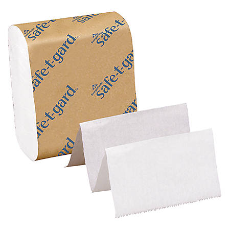 "Georgia-Pacific Safe-T-Gard Interfolded Tissue, 4"" x 10"", White, 200 Sheets Per Pack, Case Of 40 Packs"