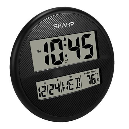 "Sharp® Wall And Table Clock, 7"", Black"