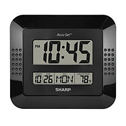 Sharp Digital Auto Time Set Wall
