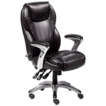 Serta® Ergo-Executive Office Chair, Bonded Leather, Black