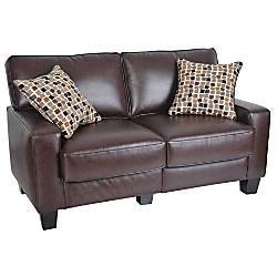 Serta Rta Monaco Collection Leather Loveseat Sofa 35 H X 60 W X 32