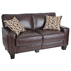 Serta RTA Monaco Collection Leather Loveseat