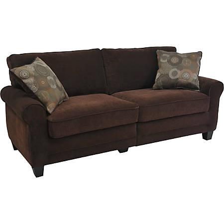 "Serta® RTA Trinidad Collection Fabric Sofa, 73""W x 32 1/2""D, Chocolate"