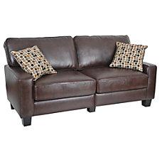Serta RTA Monaco Collection Leather Sofa