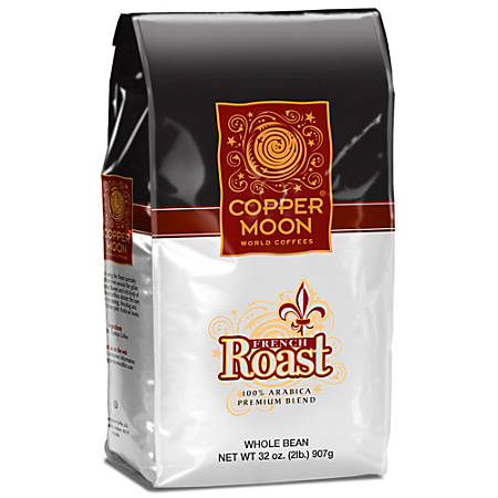 Copper Moon Coffee Whole Bean Coffee, French Roast, 2 Lb Per Bag, Case Of 4 Bags