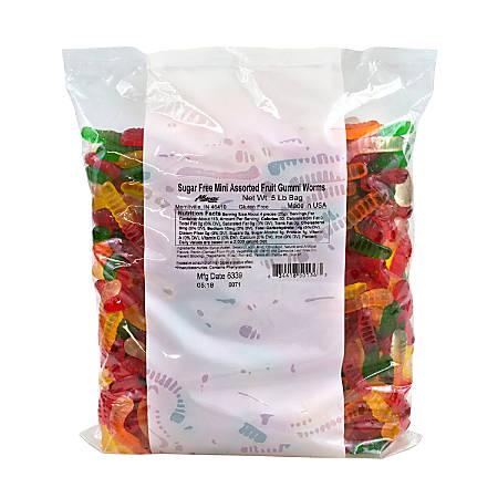 Albanese Confectionery Sugar-Free Mini Gummi Worms, 5 Lb Bag