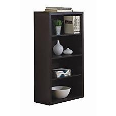 Monarch Specialties 3 Shelf Bookcase Cappuccino