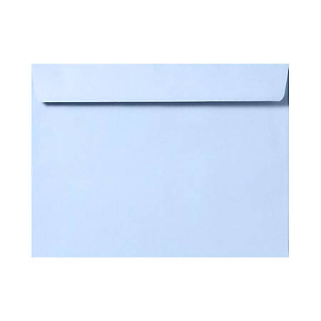 """LUX Booklet Envelopes With Moisture Closure, #6 1/2, 6"""" x 9"""", Baby Blue, Pack Of 50"""