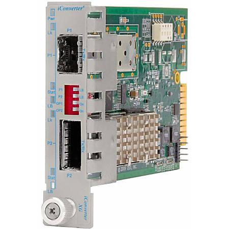 iConverter 10 Gigabit Fiber Media Converter SFP+ to XFP 10Gbps Module - 1 x SFP+; 1 x XFP (Up to Power Level 4; Protocol-Transparent); Internal Module; Lifetime Warranty